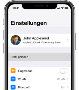 iPhone - Profile geladen