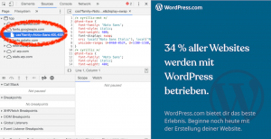 Google Web Fonts in Chrome identifizieren