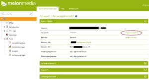 Das Passwort können Sie im Kundencenter ändern
